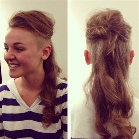 women undercut long undercut for long hair