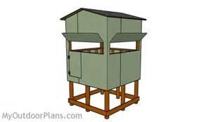 Elevated Hunting Blind Plans Elevated Deer Stand Roof Plans Myoutdoorplans Free