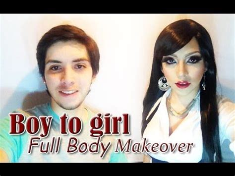 man to woman makeover boy to girl full body makeover tutorial de hombre a
