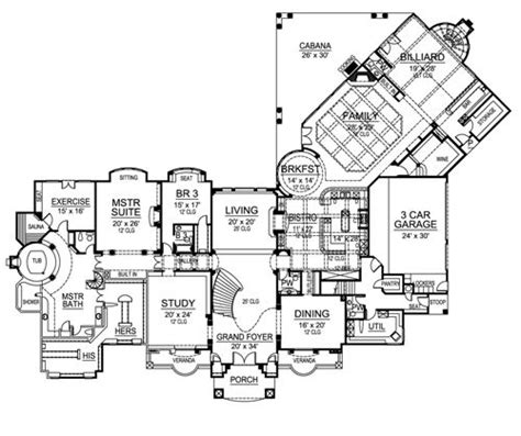 versailles florida floor plan versailles 4525 9 bedrooms and 8 baths the house designers