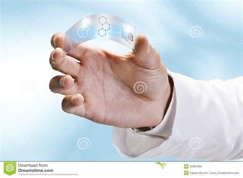 close    scientific holding  piece transparent