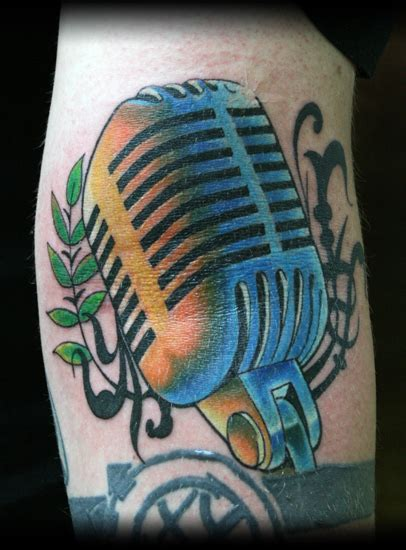 tattoo old microphone old school vintage microphone by elmo tattoonow