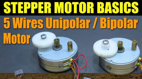 dc 6 swing stepper motor basics 5 wires unipolar bipolar motor