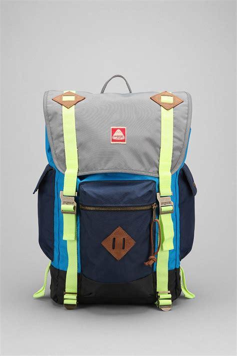 adobree adobree backpack jansport heritage adobe backpack in blue for lyst