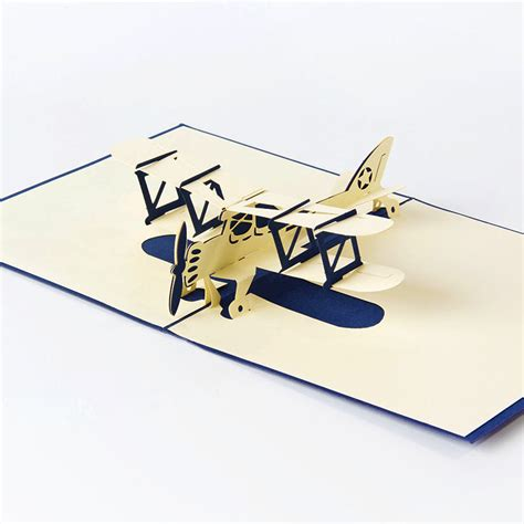 templates for handmade airplane 3d pop up card new easter day 3d pop airplane handmade best wish greeting