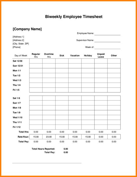 bi monthly time card template 8 bi weekly timesheet template free invoice letter