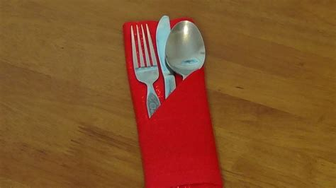 How To Fold A Paper Napkin With Silverware - how to wrap silverware in a paper napkinwritings and