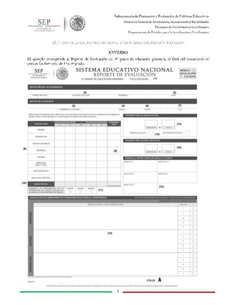 como descargar boletas de calificaciones 2015 2016 instructivo primaria reporte de evaluaci 243 n sep