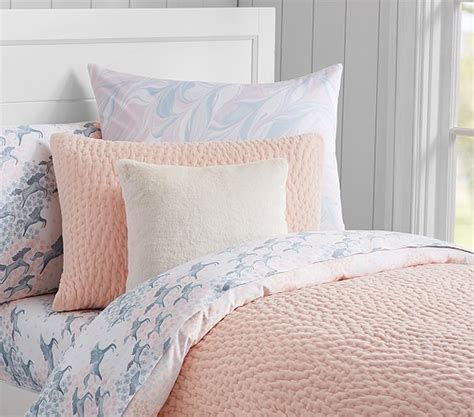 Quilted Duvet by Clara Velvet Quilted Bedding Pottery Barn