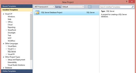 visual studio project template introduction to sql server data tools ssdt tomas lind
