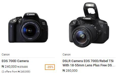 canon 700d price in nigeria best prices in nigeria 2018