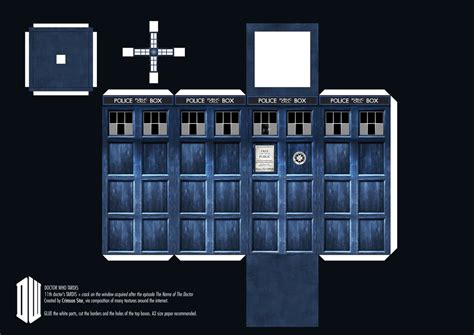 Dr Who Papercraft - 11th doctor s tardis paper craft by sidhenidon on deviantart