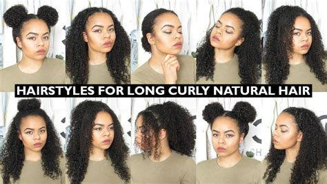 easy everyday hairstyles  natural curly hair youtube