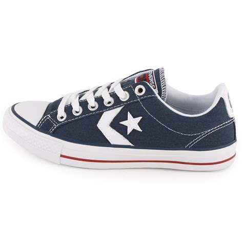 converse shoes converse player ox 136930c unisex trainers navy white