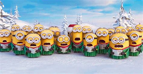 despicable  christmas gif find share  giphy