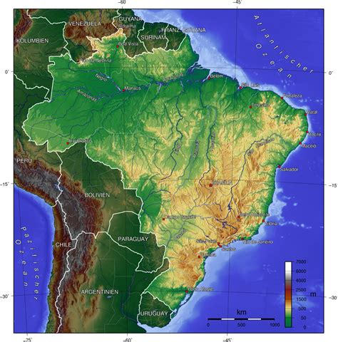 topographic map of the world map of brazil topographic map worldofmaps net