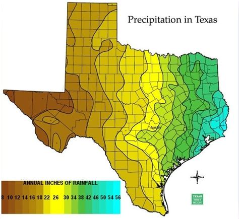 texas rainfall totals map which part of texas receives the most rainfall quora