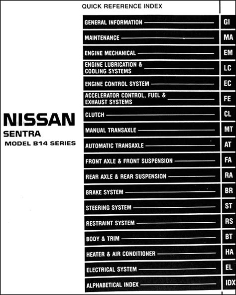 nissan sentra 1999 ga service manual download repair service manual pdf 1999 nissan 1 6l sentra repair shop manual original