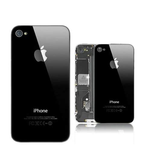 Apple Iphone 4s Back Glass back glass panel for apple iphone 4s black mobile spare
