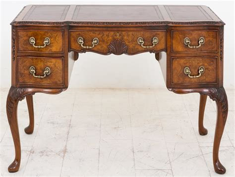 vintage queen anne desk walnut queen anne style writing desk antiques atlas