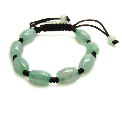 jewelry mall88 : Adjustable 8 Light Green Barrel Jade Beaded Bracelet