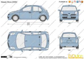 Nissan Micra Length The Blueprints Vector Drawing Nissan Micra