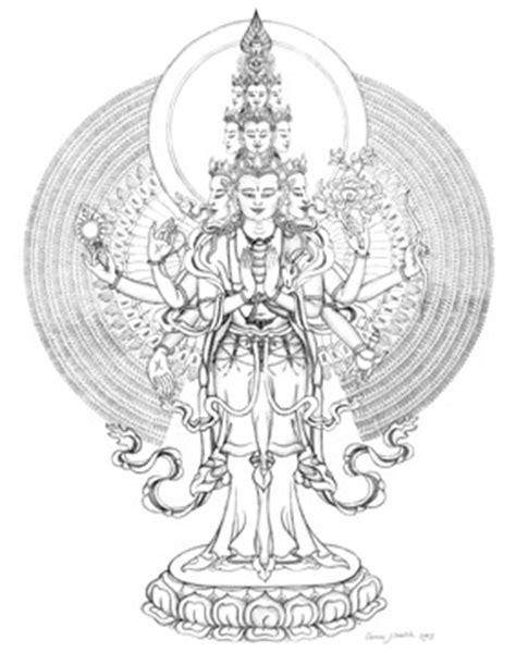 chenrezig avalokiteshvara   buddhist art, thangka