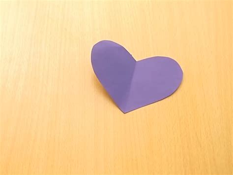 Make Paper Hearts - how to make a symmetrical paper 6 steps with pictures