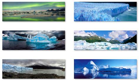 desktop themes for dual monitors desktop fun glaciers panoramic theme for windows 8 rt