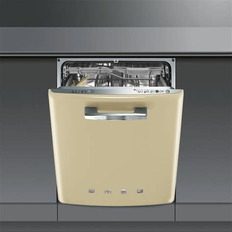 smeg appliances smeg di6fabp2 60cm built in cream dishwasher