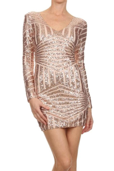 Hostess Gifts by Depri Rose Gold Sequin Dress From Kentucky By Cocabelle