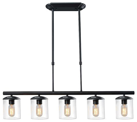 kitchen pendant lighting houzz lnc downey 5 light kitchen pendant kitchen island