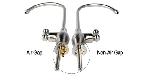 air in kitchen faucet air gap vs non air gap faucet esp water products