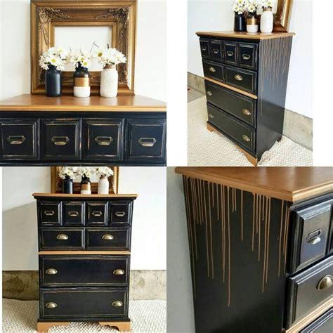 Black And Gold Dresser by L Black And Gold Drip Dresser General Finishes Design