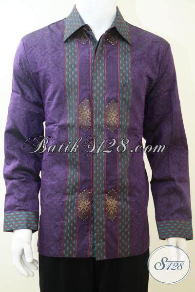 Pakaian Hem Resmi Pria Maroon Xl Kemeja Pria Katun Stretch pakaian resmi lengan panjang untuk pria dewasa til elegan hem tenun premium warna ungu