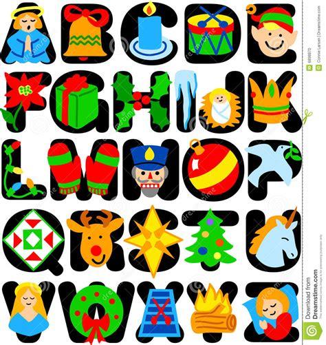 lettere alfabeto natalizie alfabeto di natale fotografia stock immagine 6898870
