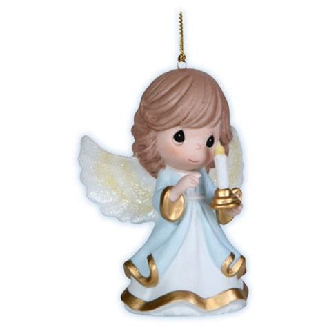 angel holding candlestick precious moments ornament