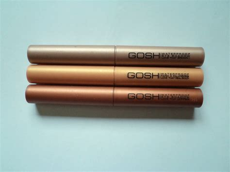 Eyeshadow Stick gosh waterproof eyeshadow stick review and swatches