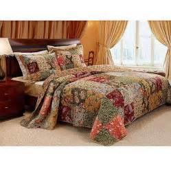global trends antique chic quilt set walmart