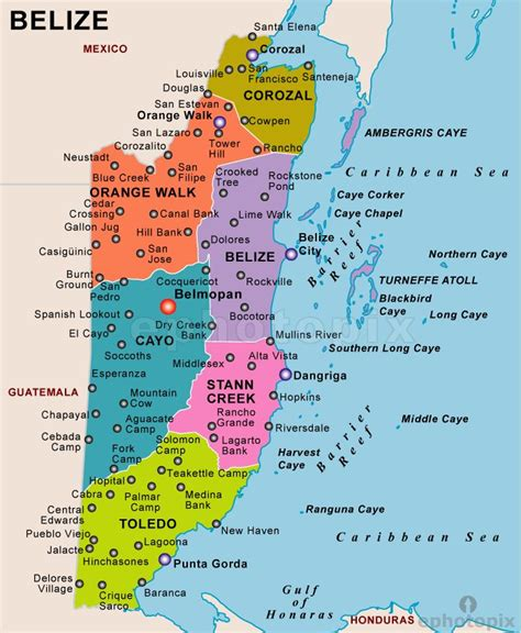 map of belize central america map of belize belize maps map of belize