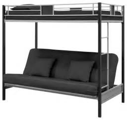 Black Metal Futon Bunk Bed Futon Bunk Bed Silver Black Metal Finish Bunk Beds By Furnitures
