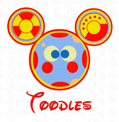 mickey mouse clubhouse toodles shirt iron on transfer