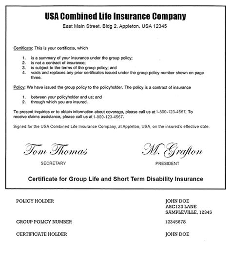 Usa Jobs Resume Format Example by Example Of A Term Life Insurance Policy Bankrate Com