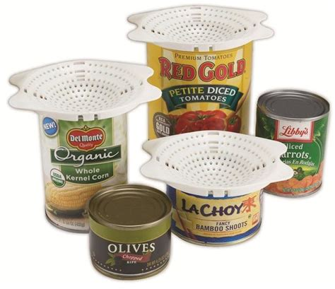 Exclusive Can Strainer Drain Canned Foods With Ease Terbaru jokari snap on can strainer colander ebay