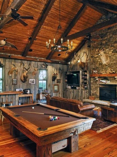 log home game room decor 60 cool man cave ideas for men manly space designs