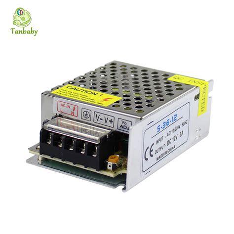 Tanbaby Led Lighting Transformer Dc 12v 3a 36w Power Led Light Transformer