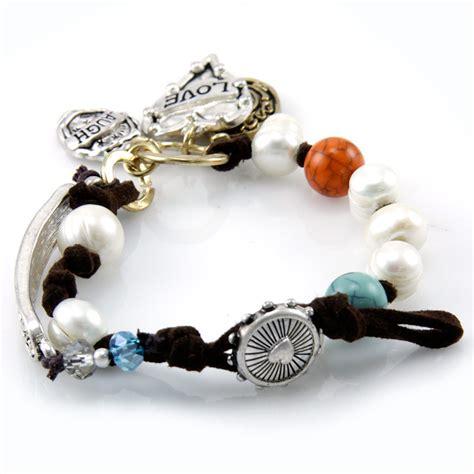 faux pearl wholesale wholesale faux pearls live laugh bracelet ttb