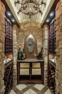 closet converted into a custom wine cellar mediterranean