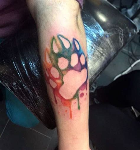 bear print tattoo 25 best ideas about paw tattoos on