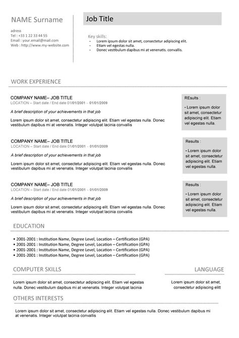 free cv template and guide gradtouch